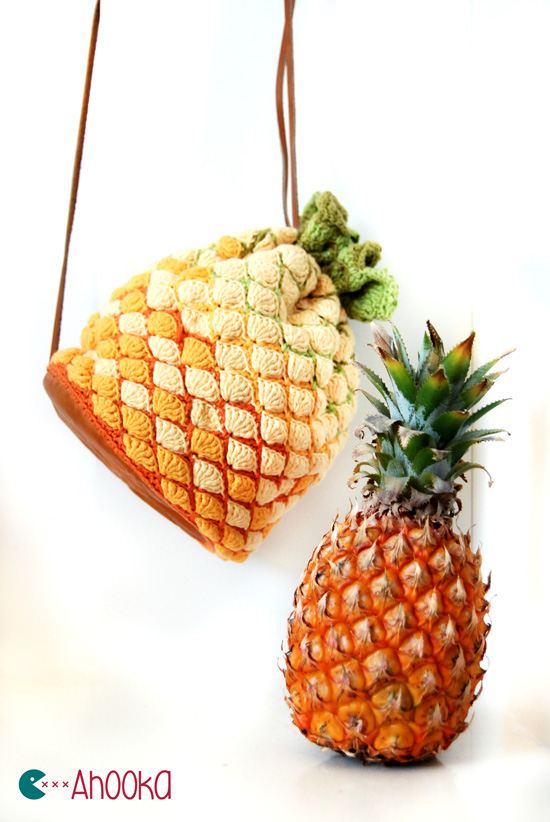 Crocheted Handbag : Pineapple crochet bag - Pattern for win ! Ahookamigurumi