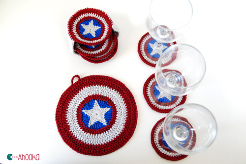 Captain America coasters by ahooka