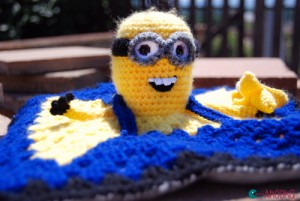 Minion lovey blancket by Ahooka