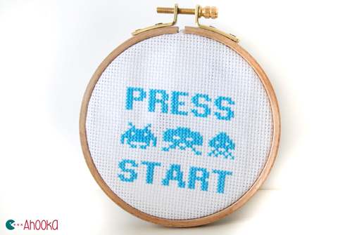 Space invaders cross stitch by ahooka