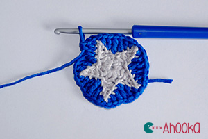 star in a crochet circle tutorial