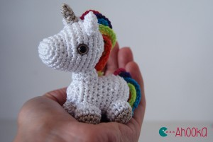 Tiny unicorn amigurumi by Ahooka