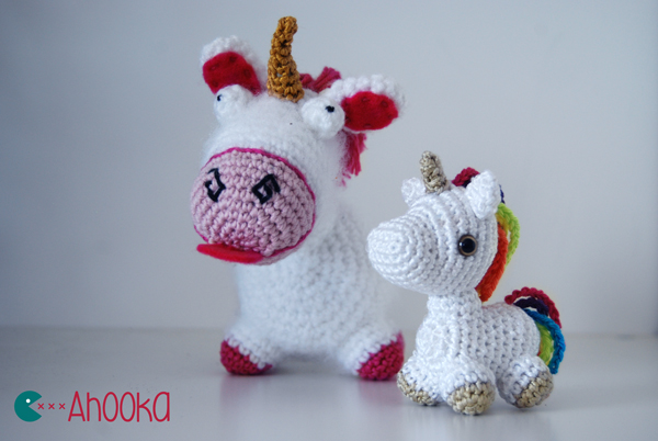 Mini licorne arc-en-ciel au crochet modele gratuit ...