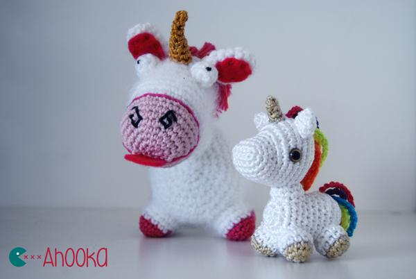 Rainbow Loom Amigurumi Unicorn : Mini licorne arc-en-ciel au crochet modele gratuit ...