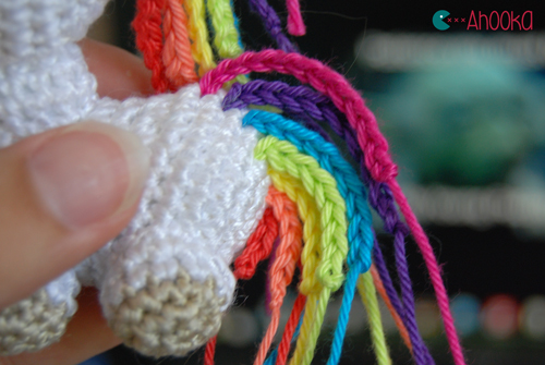 Crochet Unicorn Hair : Tiny rainbow unicorn - crochet amigurumi - free pattern ...