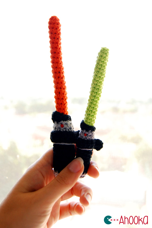 Lightsaber amigurumi by ahooka
