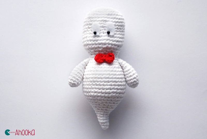 Amigurumi Halloween Free : Halloween special n°1 : ghosty the classy little ghost [amigurumi