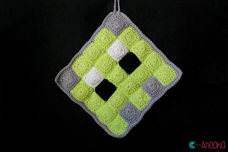 crochet pacman ghost by ahooka