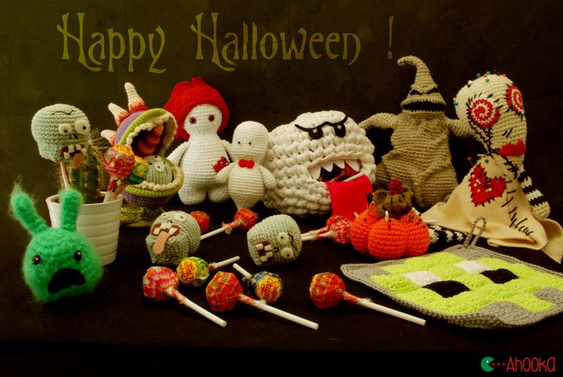halloween amigurumi by ahooka