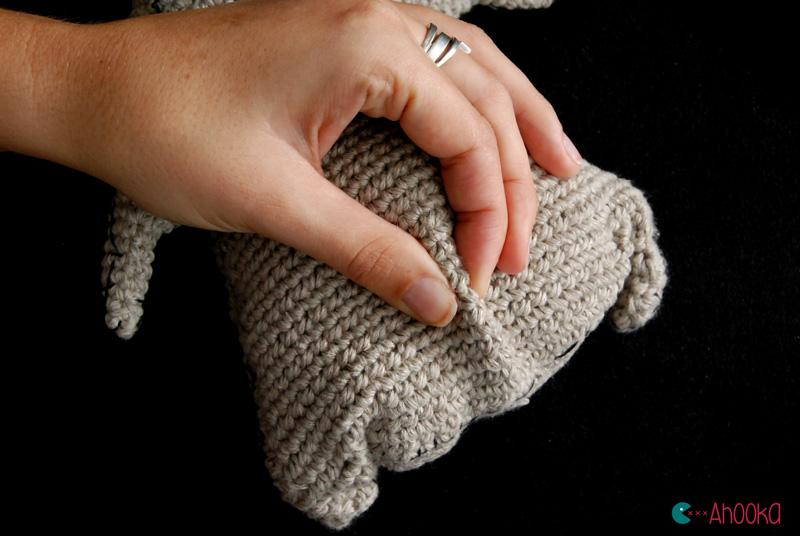 Amigurumi Knitting Tutorial : How to make wrinkles on your amigurumi tutorial ahookamigurumi