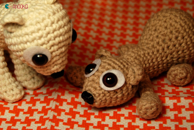 babet and boba crochet ferret by ahooka