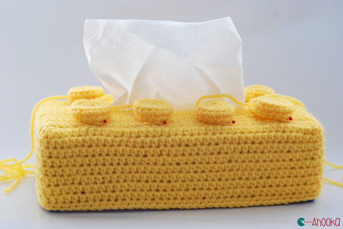 crochet lego brick by ahooka