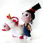 Petite Agnès (Moi, mochet et méchant) crochet amigurumi par Ahooka