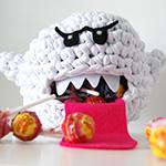 Boo (Mario) en Trapilho crochet par Ahooka