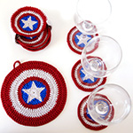 crochet captain america