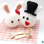 Lapins de saint valentin crochet amigurumi par ahooka