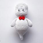Ghosty, le petit Casper classe, amigurumi en crochet par Ahooka