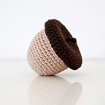 Le gland de Scrat (avec cachette !) amigurumi par Ahooka