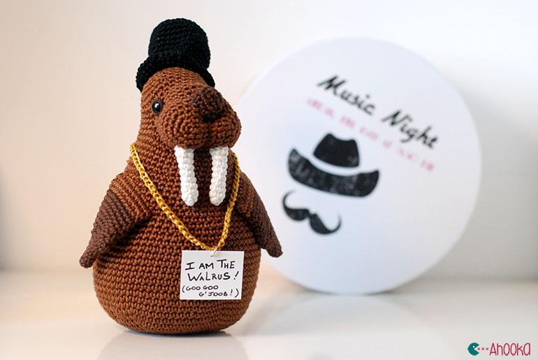 walrus amigurumi by ahooka