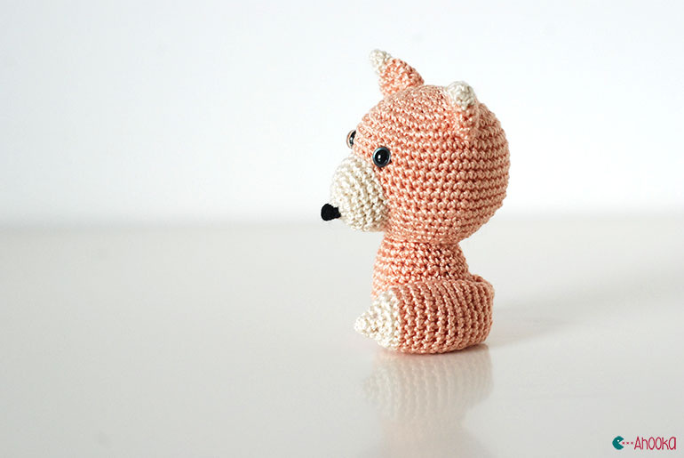 crochet fox by ahooka02