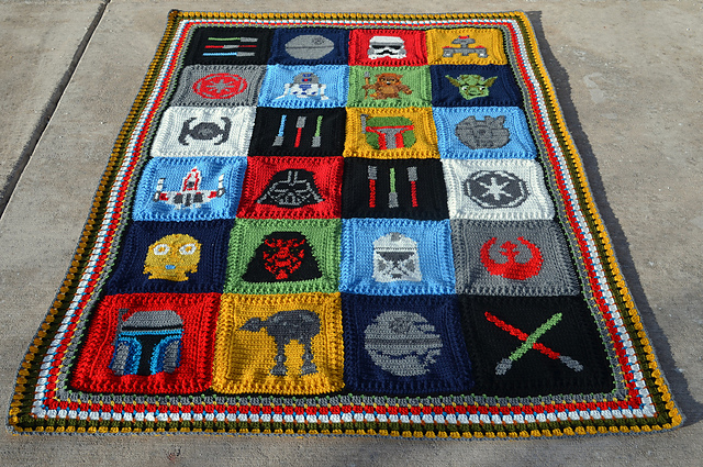 Star wars blanket by spinayarn32