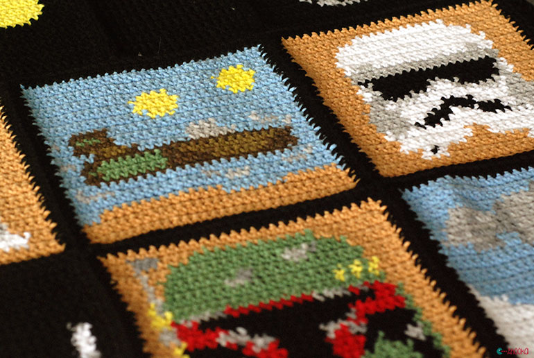 Crochet Patterns Star Wars : ... with me and my crochet hook ! A Star Wars blanket ! Ahookamigurumi