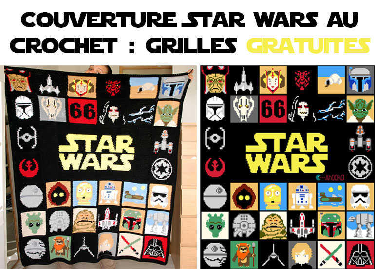 Plaid star war au crochet tutoriel gratuit diy tutolibre - Star wars gratuit ...