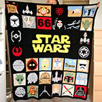 Couverture Star Wars au crochet par Ahooka