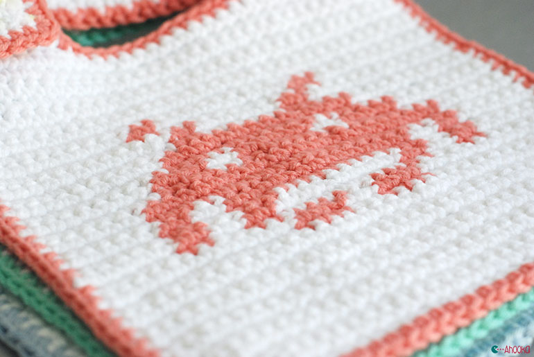 pace invaders crochet bibs by ahooka