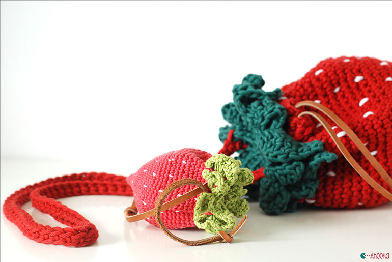 strawberry crochet bag pattern by ahooka