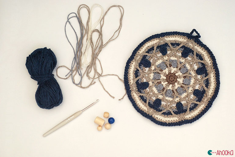 dreamcatcher crochet mandala by ahooka