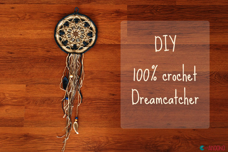 diy 100 crochet mandala dreamcatcher ahookamigurumi. Black Bedroom Furniture Sets. Home Design Ideas