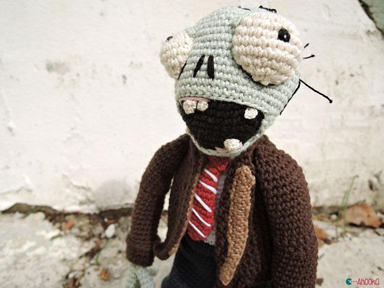 crochet pattern, english or german, zombie | 578x770