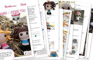 EN - minibuddies zombie mod - amigurumi pattern- by ahooka thumbnail