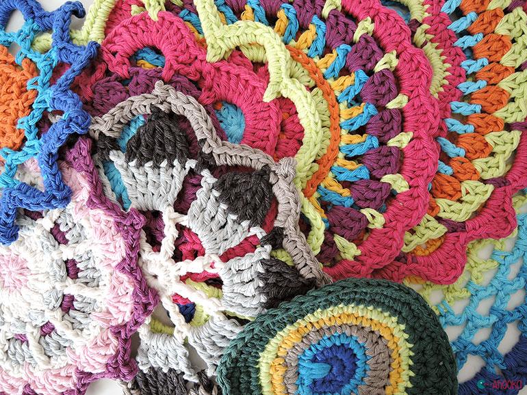 crochet mandalas by ahooka