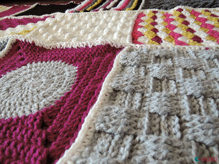 geometric crochet afghan by ahooka