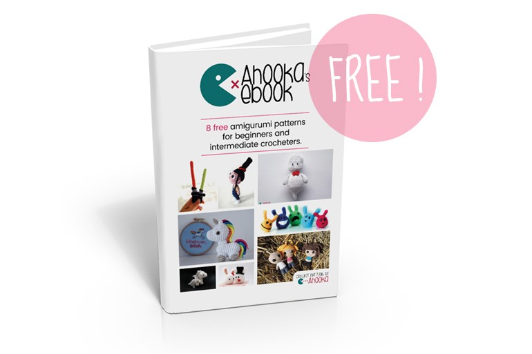 Ahooka's FREE ebook : 25 pages, 8 amigurumi patterns and tutorials, hundreds of pictures !