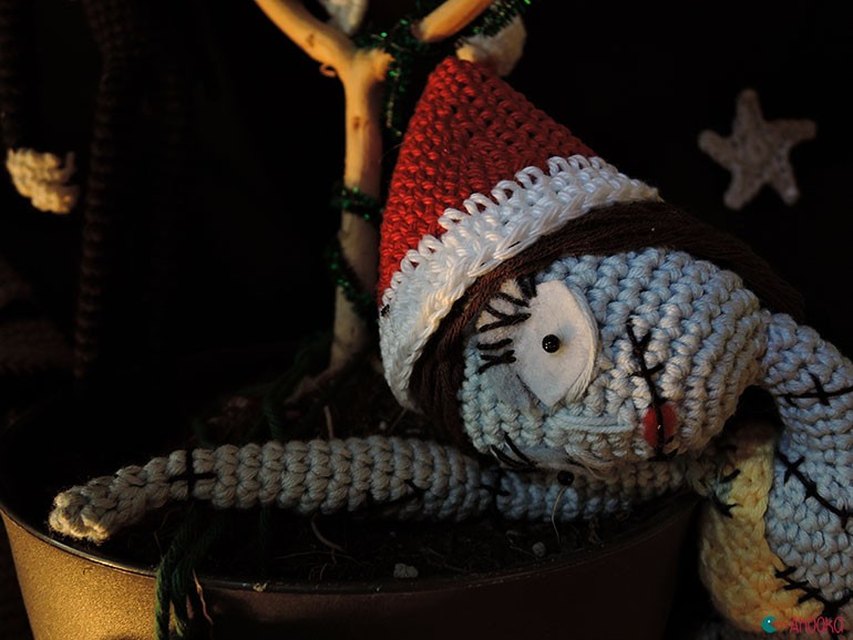 christmas crochet decoration by ahooka13
