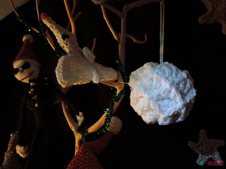 christmas crochet decoration by ahooka17