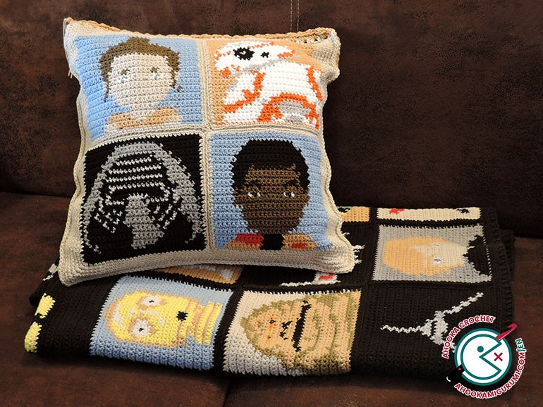 star wars crochet cushion pattern