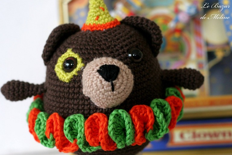 barry the bear by Meline, ahooka pattern
