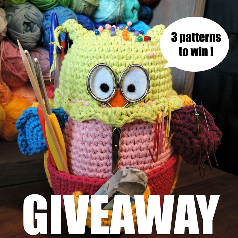 3 owlivia, the owlganizer patterns to win !