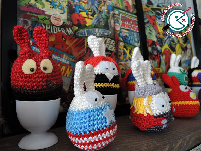 Easter crochet patterns decoration by ahooka