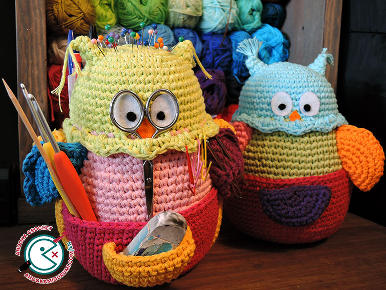 owlivia the crochet owlganizer pattern by ahooka 14