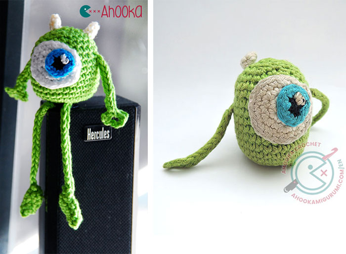 Mike Wazowski amigurumi pattern by ahooka