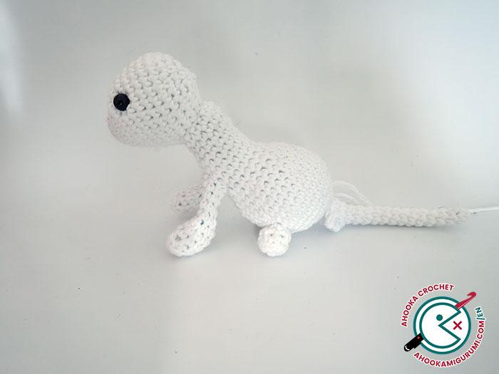 crochet ferret amigurumi pattern