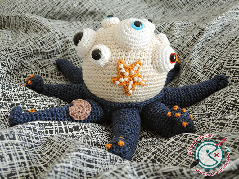 kraker amigurumi monster by ahooka