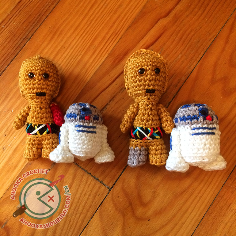 mini C3PO and R2D2 pattern by ahooka