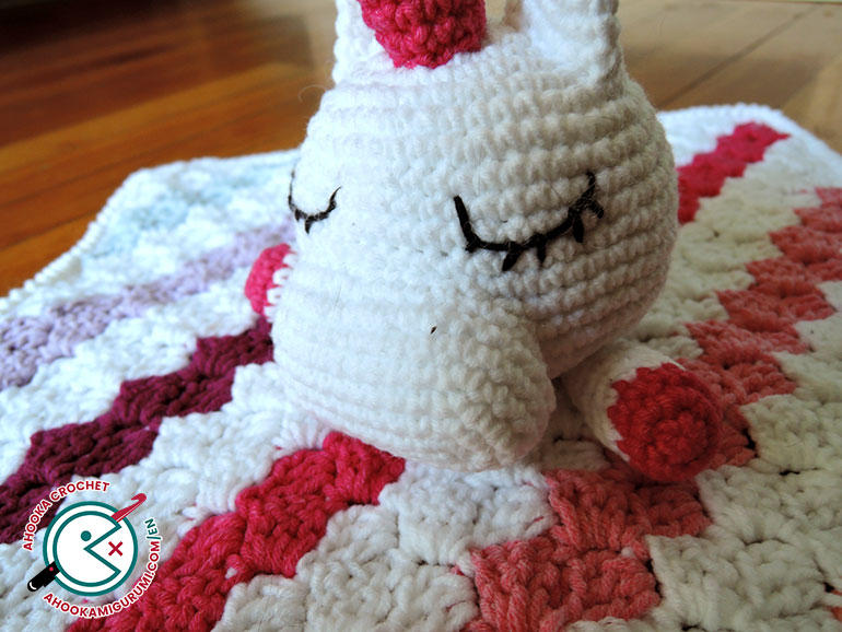 unicorn lovey pattern by ahooka 05